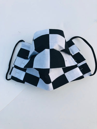 Sustainable COVID-19 Face Extendable Face Masks (Checkerboard)
