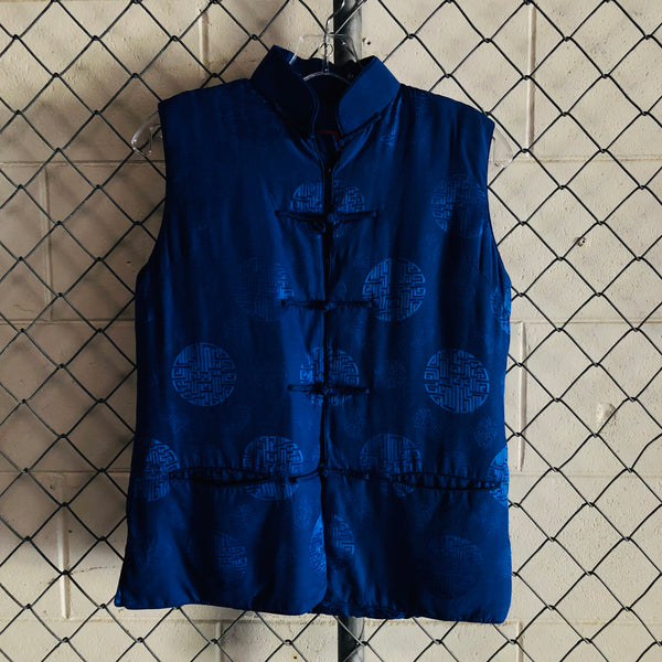 Artistic Palace Royal Blue Symbol Button Vest