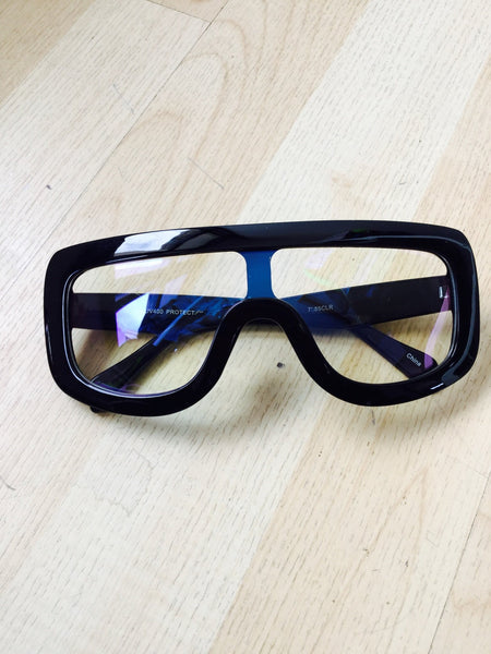Cheater Clear Frames (Black)