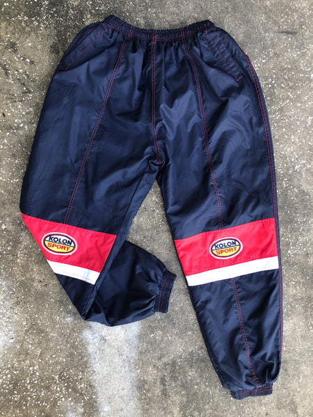 Kolon Sport Blue and Red Lined Track Pants