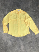 Shapely Yellow Button Up