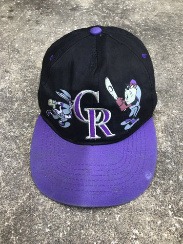 AS IS - CR Looney Tunes Black and Purple Cap - Closet Freekz