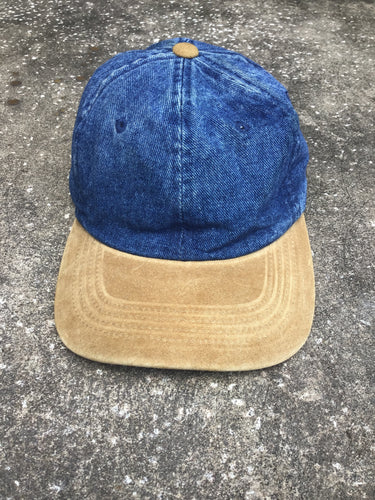 Yupoong Denim and Suede Cap - Closet Freekz