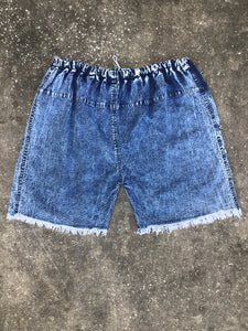 Blue Diamond Acid Wash Denim Shorts - Closet Freekz