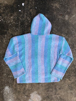 Cotton Candy Blue and Pink Knit Pullover