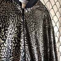 Impressions Black and Silver Leopard Jacket