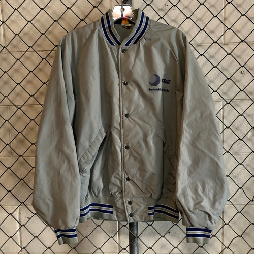 Pla-Jac Gray and Blue AT&T Bomber - Closet Freekz