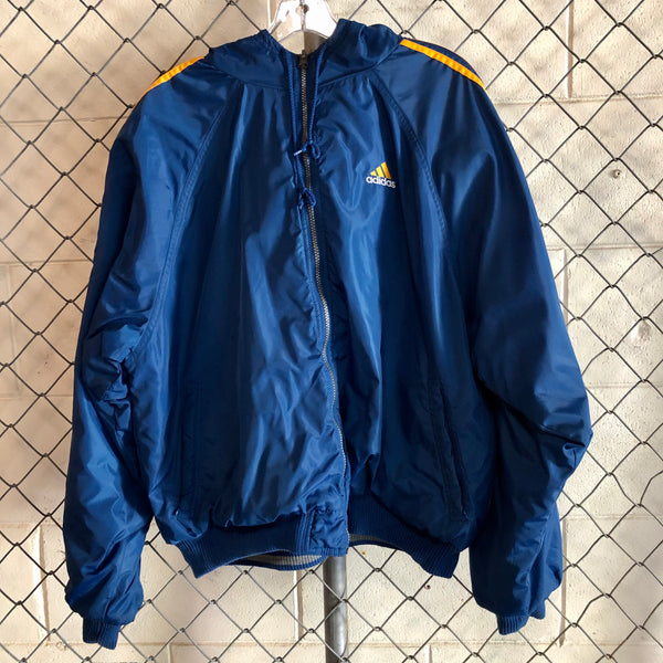Adidas Blue and Yellow Reversible Coat
