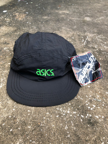 Asics Black and Lime Cap - Closet Freekz