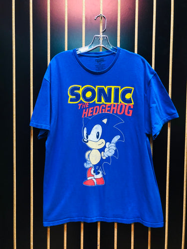Sonic The Hedgehog Blue Vintage Graphic T-Shirt