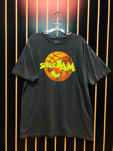 Space Jam Gray Vintage Graphic T-Shirt