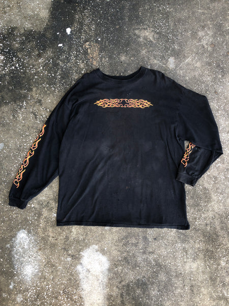 AS IS- Delta Black Flame Long Sleeve T-Shirt