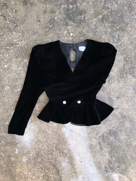 Stenay Black Diamond Bow Blazer