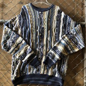 Croft & Barrow Blue and Tan Sweater - Closet Freekz
