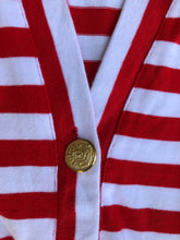 Adrienne Vittadini Sport Red and White Cardigan