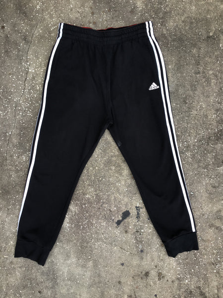 AS IS - Adidas Black with Red Lining Sweatpants