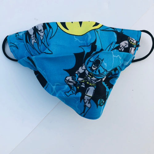 Sustainable COVID-19 Face Extendable Face Masks (Blue Batman)