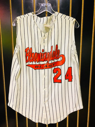 Howe Stripe Sleevless Retro Baseball Jersey