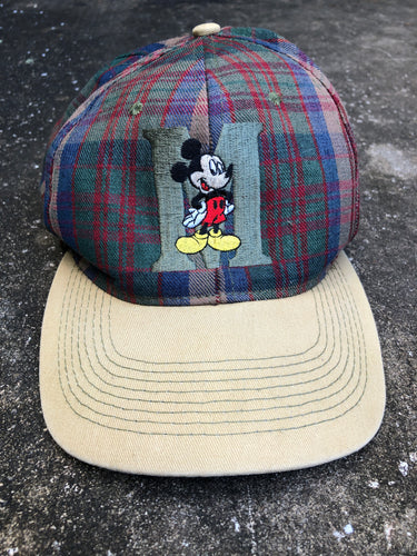 Mickey Mouse Plaid and Tan Baseball Cap - Closet Freekz