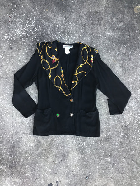 Francine Browner Black Royal Blazer