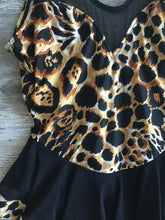 Vintage Cheetah Skirted One Piece