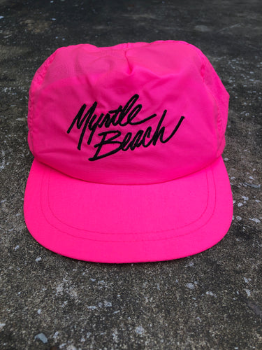 Brandon Neon Pink Myrtle Beach SnapBack Hat - Closet Freekz