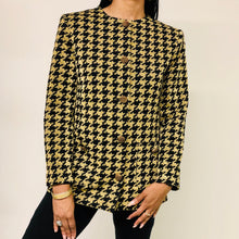 Horchow Black and Gold Retro Jacket - Closet Freekz