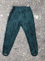Klee Green Velvet Retro Riding Pants