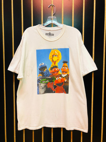 AS IS - Sesame Street White Vintage Graphic T-Shirt