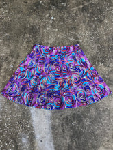 Pebble Beach Purple and Blue Swirl Panel Skirt - Closet Freekz