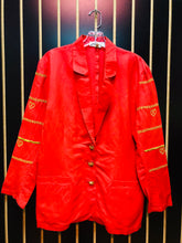 Jennifer Eden Red & Gold Blazer