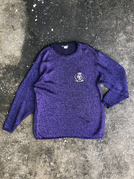 Pierre Cardin Purple Shimmer Royal Sweater