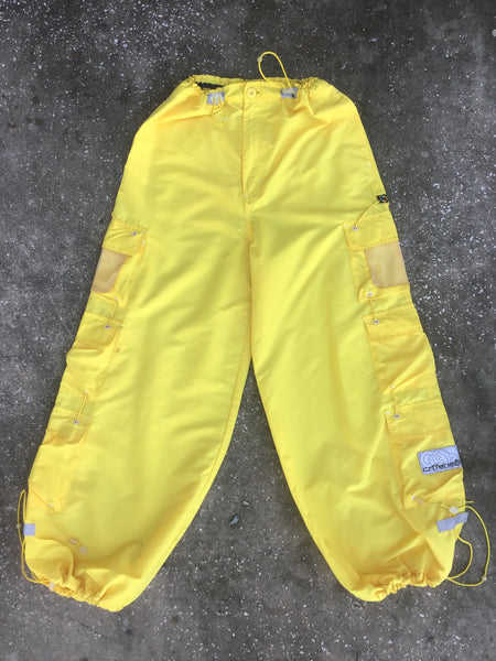 Caffeine Yellow Windbreaker Cargo Pants