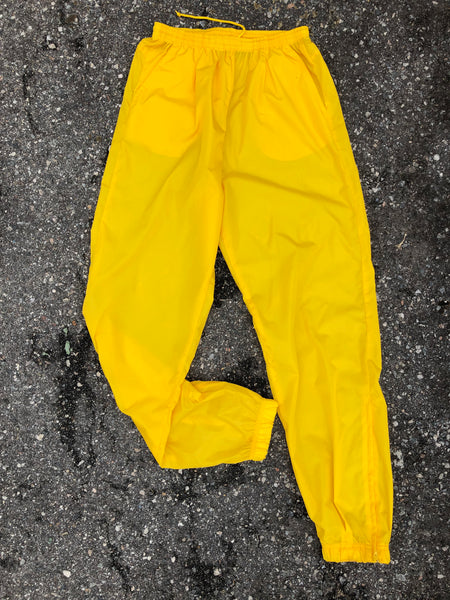 Champs Yellow Athletic Windbreaker Pants