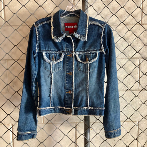 Zana Di Regular Wash Distressed Denim Jacket - Closet Freekz