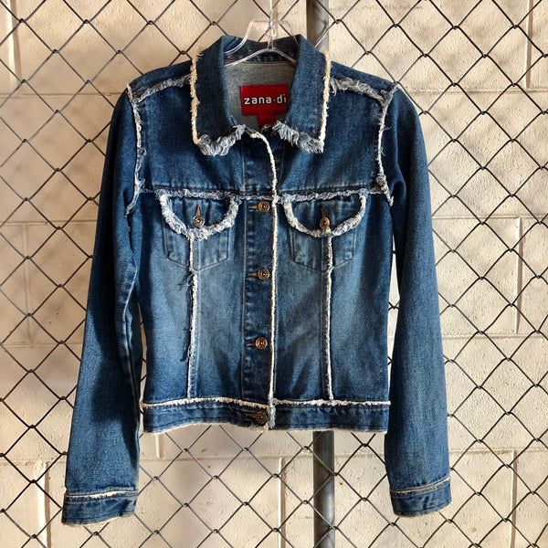 Zana Di Regular Wash Distressed Denim Jacket