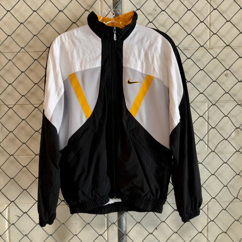 Nike Black and Yellow Athletic Windbreaker - Closet Freekz