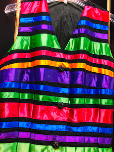Multicolor Striped Vest
