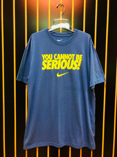 Nike Blue 'You Cannot Be Serious' Graphic T-Shirt