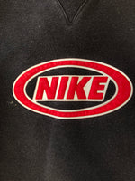 Nike Black and Red Logo Crewneck