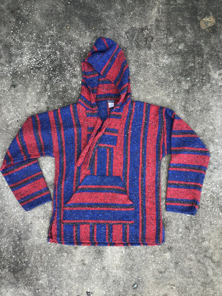 Earthbound Red and Blue Knit Pullover