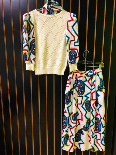 Jaymee Papell Multi-Color Vintage Skirt Suit