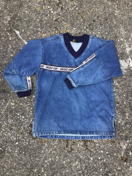 Hedz Up Blue Denim Pullover