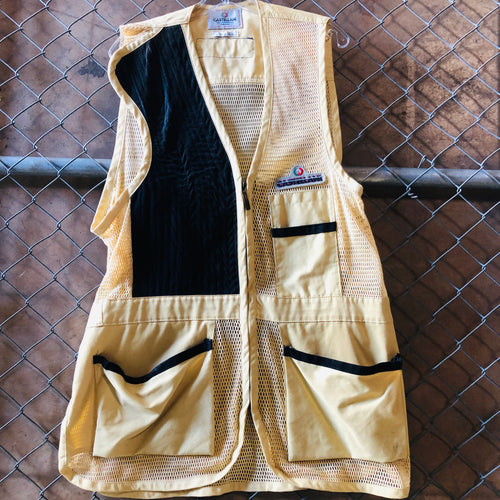 AS IS - Castellani Tan and Black Mesh Vest - Closet Freekz