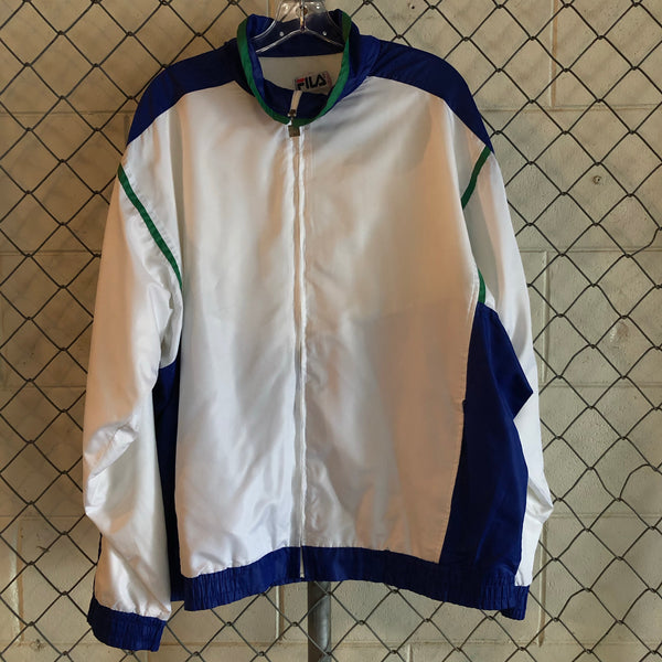 Fila White and Blue Athletic Jacket