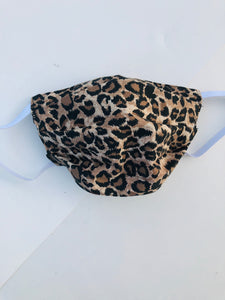 Sustainable COVID-19 Face Extendable Face Masks (Leopard Print)