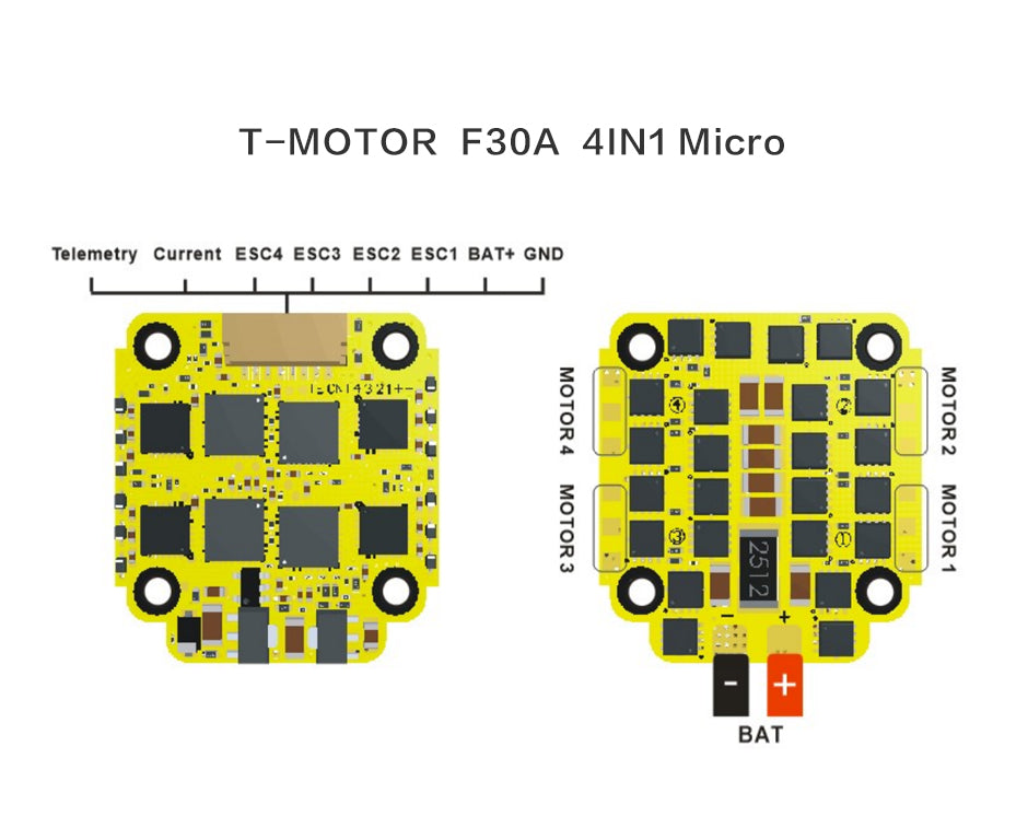 Mini F30A ESC Wiring Diagram
