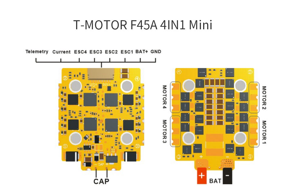 Mini F45A ESC Wiring Diagram