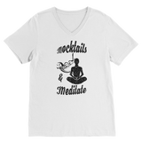Mocktails&meditate Premium V-Neck T-Shirt