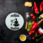 Mocktails&meditate Sublimation Glass Cutting Board